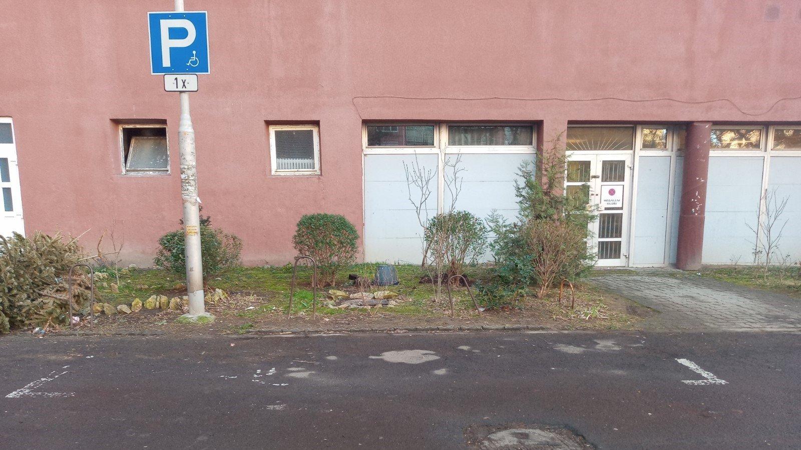 Car park in public area