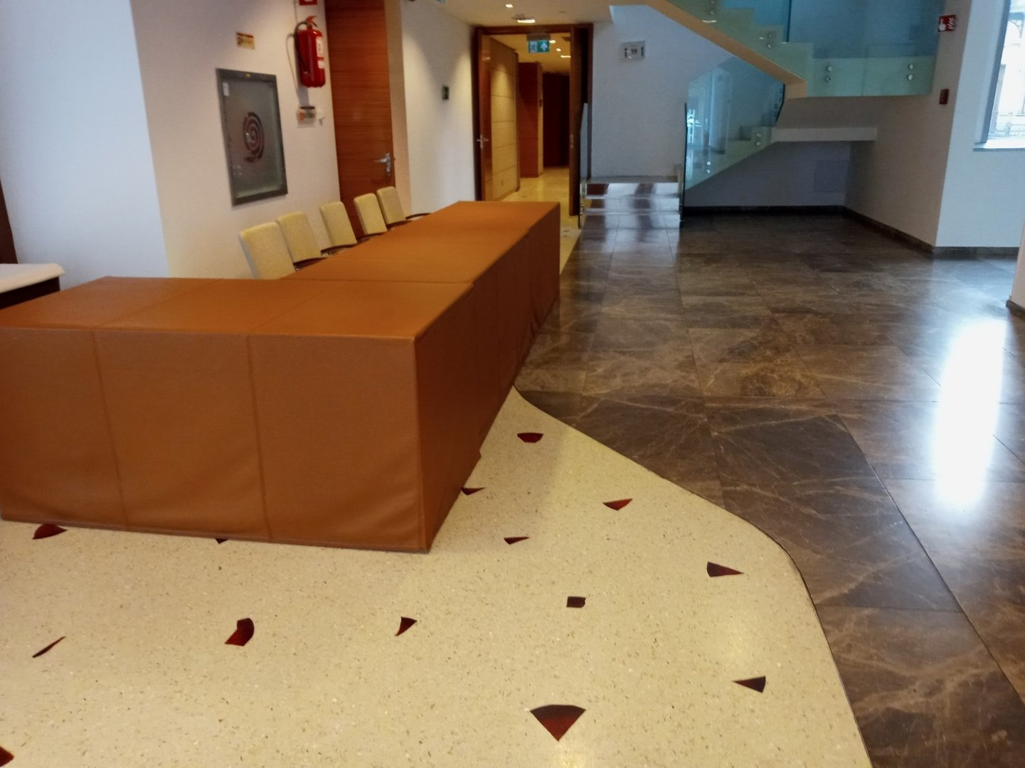 Accessibility of information or reception counter