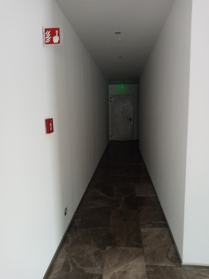Turning to the door