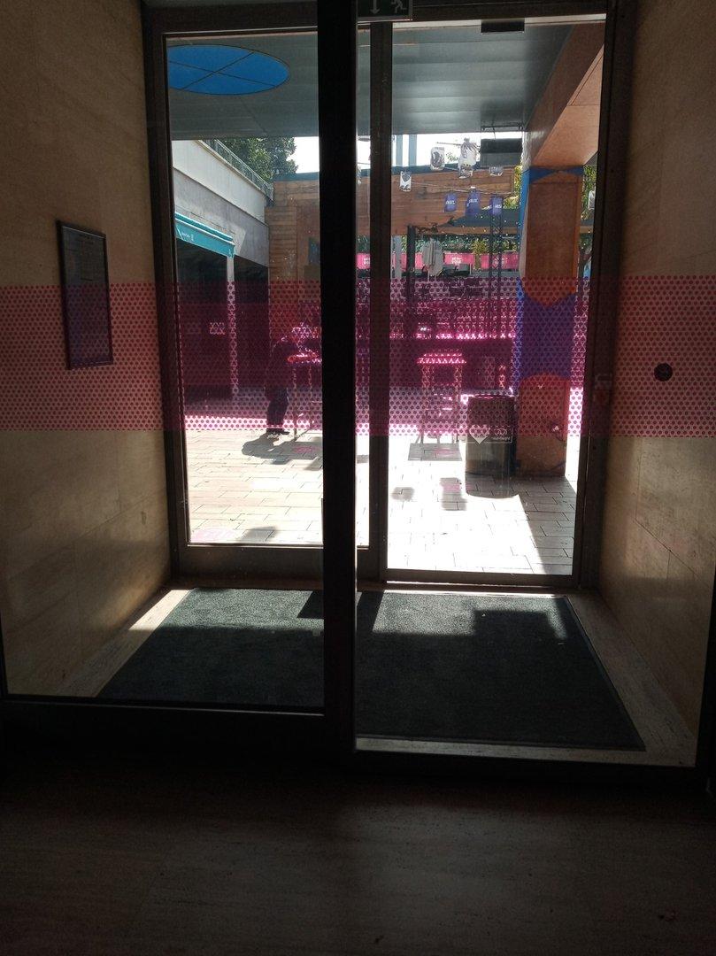 Wind-break door
