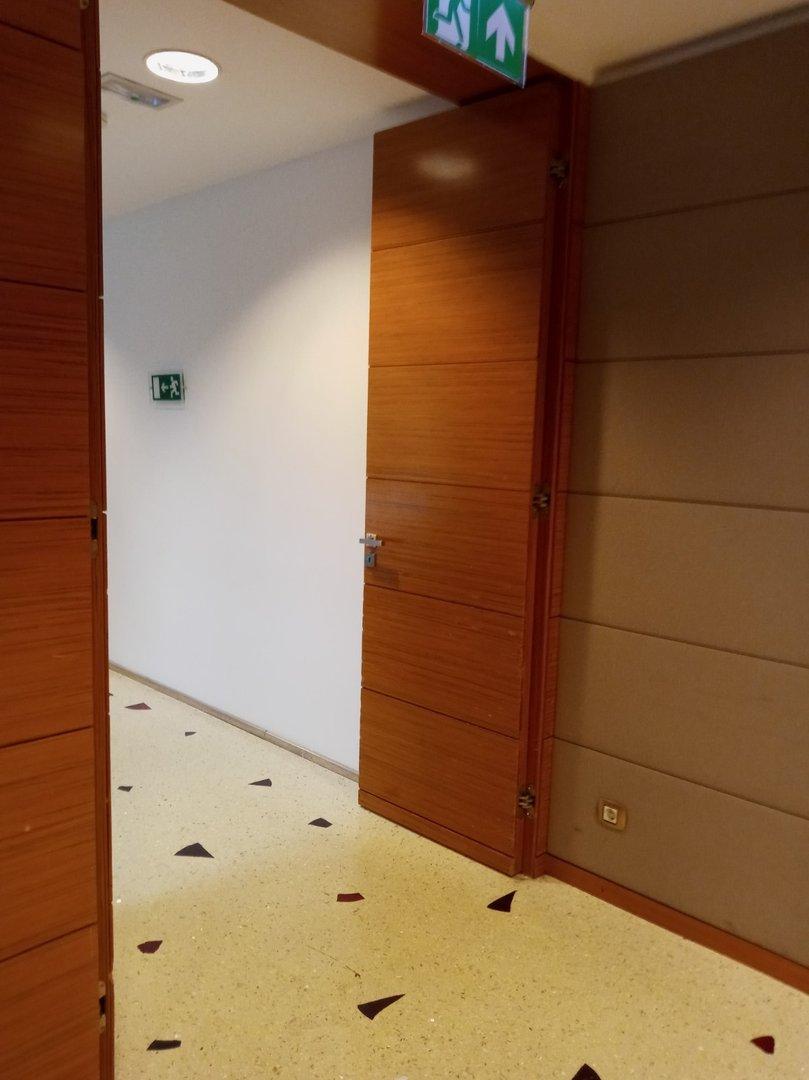Cloakroom door