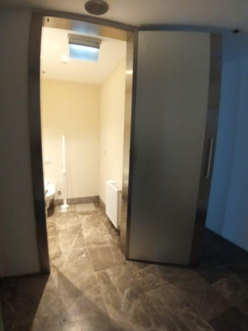 Accessible toilet door