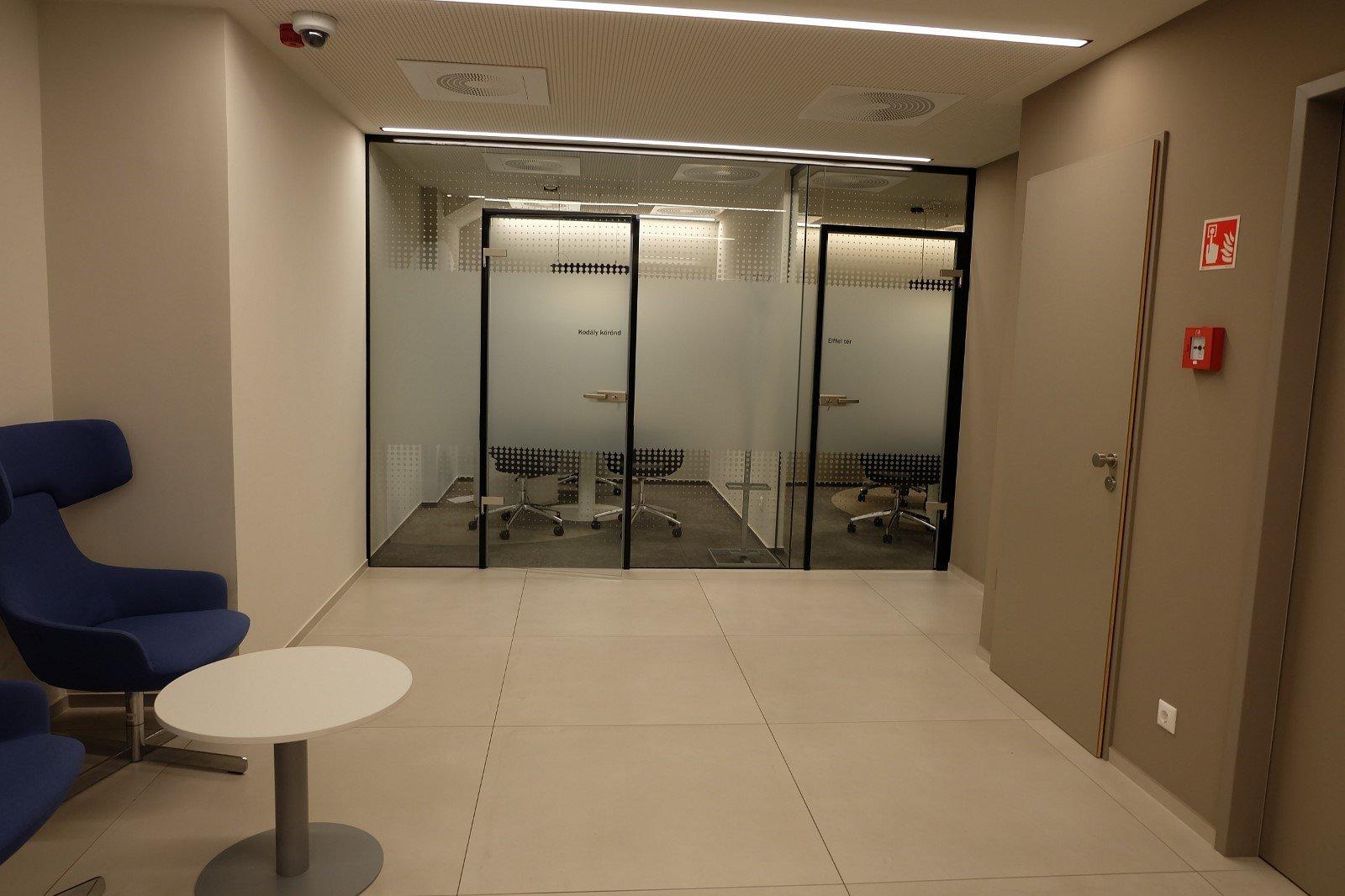 Customer area door