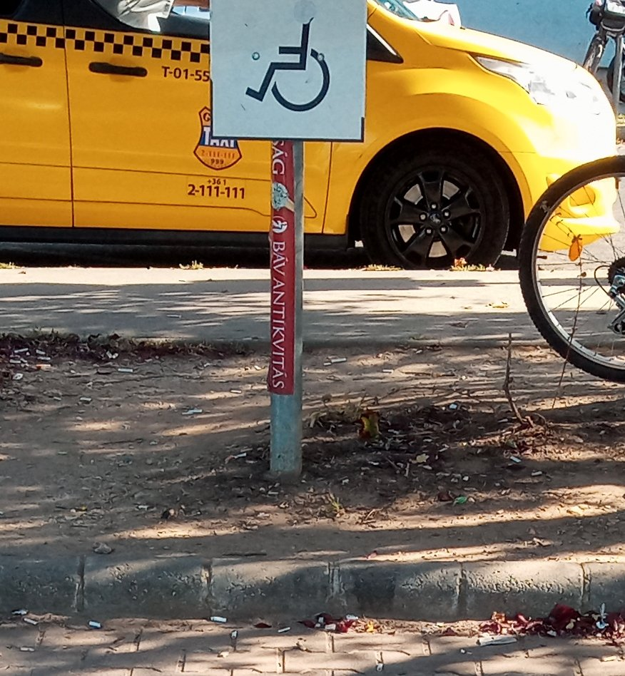 Barrier-free parking space